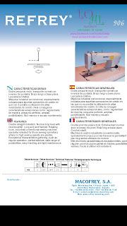 Máquina de coser Refrey 906, refrey 906, máquinas refrey , refrey vigo