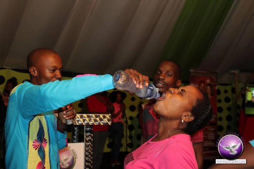 (Photos) South African pastor makes congregants drink rat poison