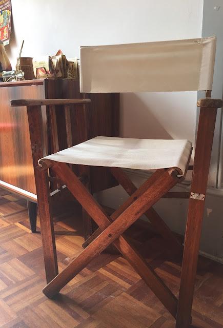 cadeira, vintage, realizador, esplanada