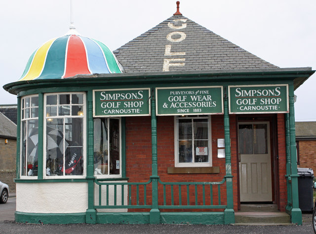Jack Simpson was a clubmaker and the family shop still exists at Carnoustie