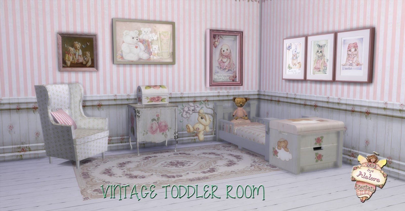 My Sims 4 Blog Vintage Toddler Bedroom Recolors By Alelore