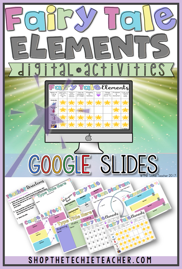 Digital Fairy Tale Elements in Google Slides is a paperless way to study fairy tales using Google Drive. You can use ANY title(s) with this resource.