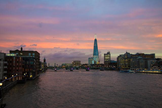 Tramonto dal Millennium bridge-Londra