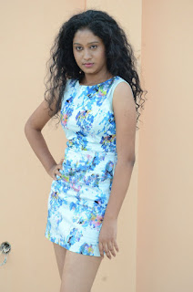Actress Priyankha Stills in Floral Short Dress at Golmal Gullu Movie Pressmeet 0215.JPG