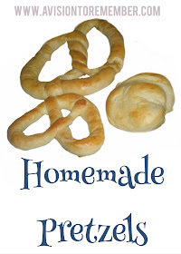Homemade Pretzels Recipe by A Vision to Remember