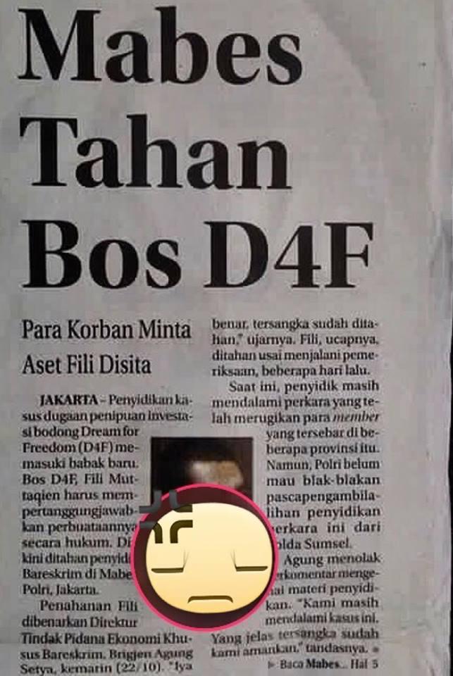 Mabes Polri Tahan Bos D4F - MONEY GAME Kembali Tumbang!