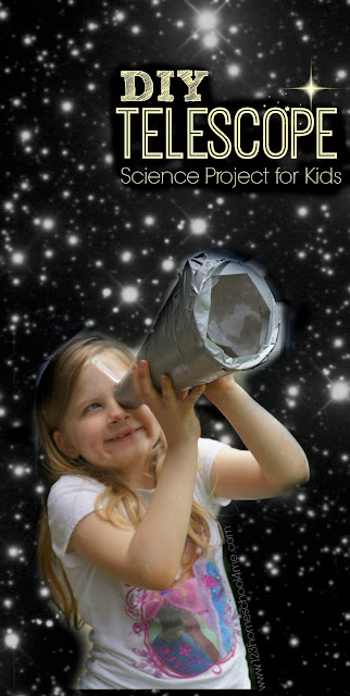 Make your own telescope science project for kids