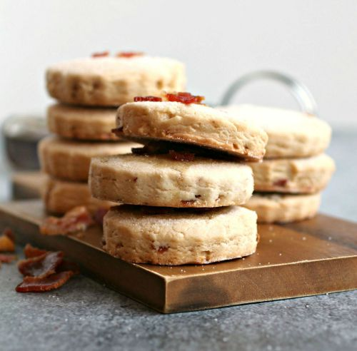 Maple Bacon Shortbread Cookies