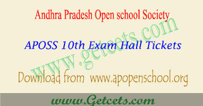 AP open 10th hall tickets 2021, aposs ssc result date