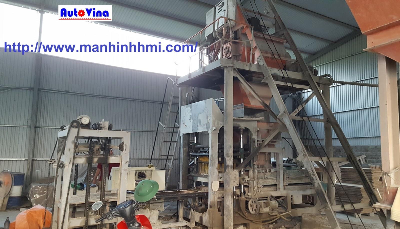 Dây chuyền gạch block, ép gạch không nung, gạch bê tông của Trung Quốc do Auto Vina sửa chữa