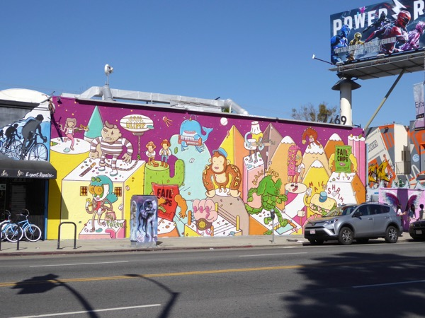 Mail Chimp wall mural ad