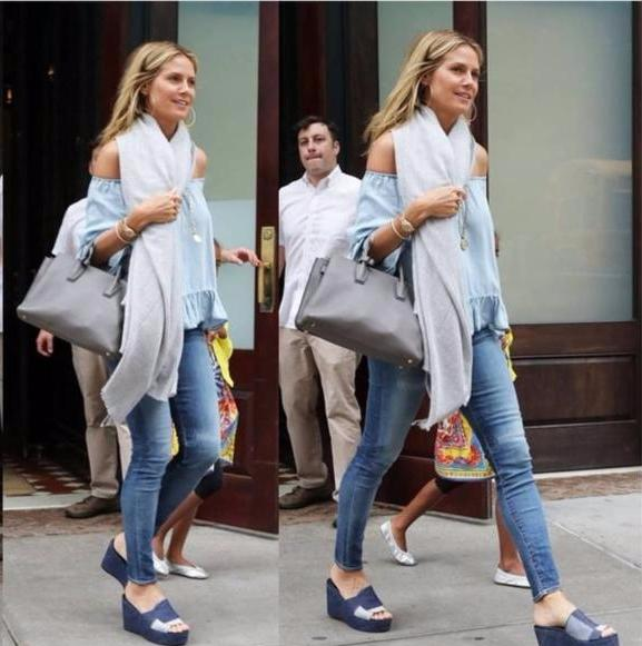 Heidi Klum Off Shoulder Top