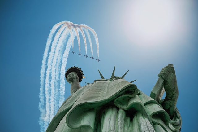 Planes Above Liberty