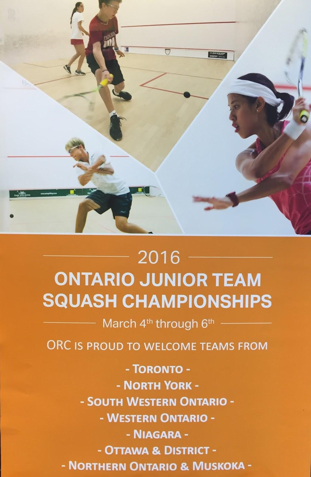 Squash Windsor Squash Fitness Ontario Junior Team Squash