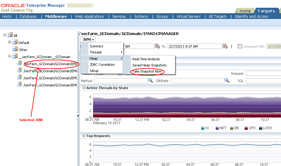 Middleware Management with Oracle Enterprise Manager: How to compare