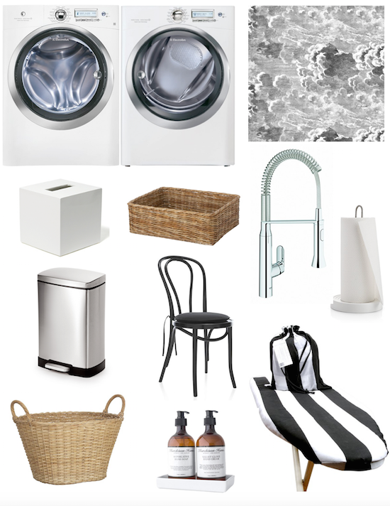 The zhush one room challenge week five for Laundry room decor accessories
