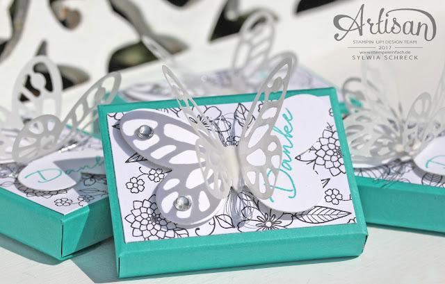 Verpackung Stampin Up Schmetterlinge