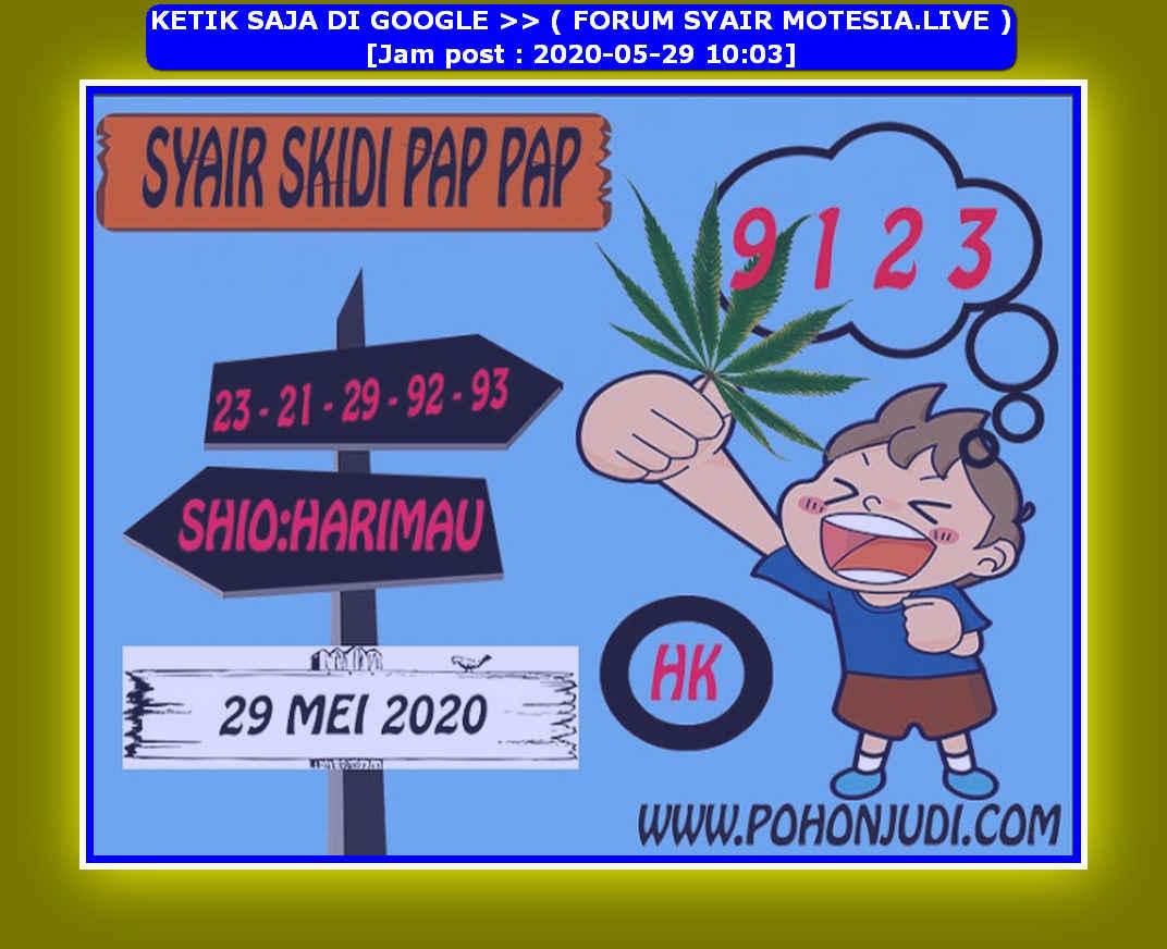Kode syair Hongkong Jumat 29 Mei 2020 124