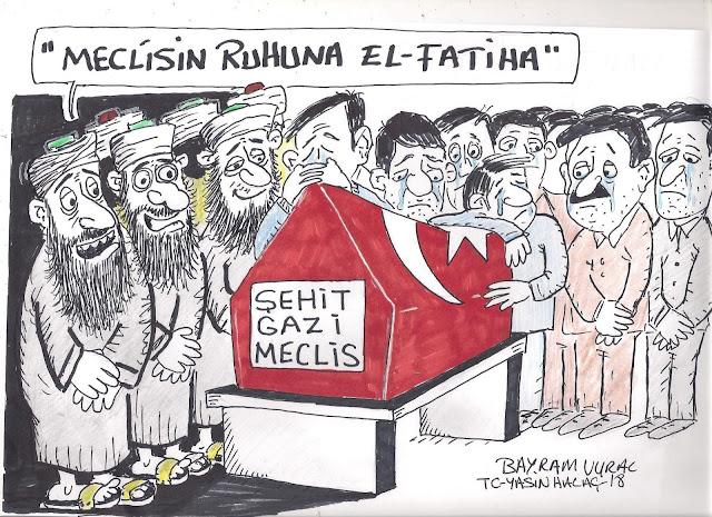şehit gazi meclis karikatürü