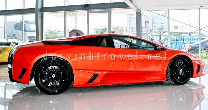 Cho thuê siêu xe Lamborghini Muciélago màu đỏ