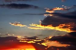 Goldene Wolkensäume...