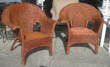 Uhuru Furniture & Collectibles Sold - Wicker Patio Chairs