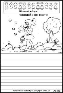 Produção de texto bolhinhas de sabão
