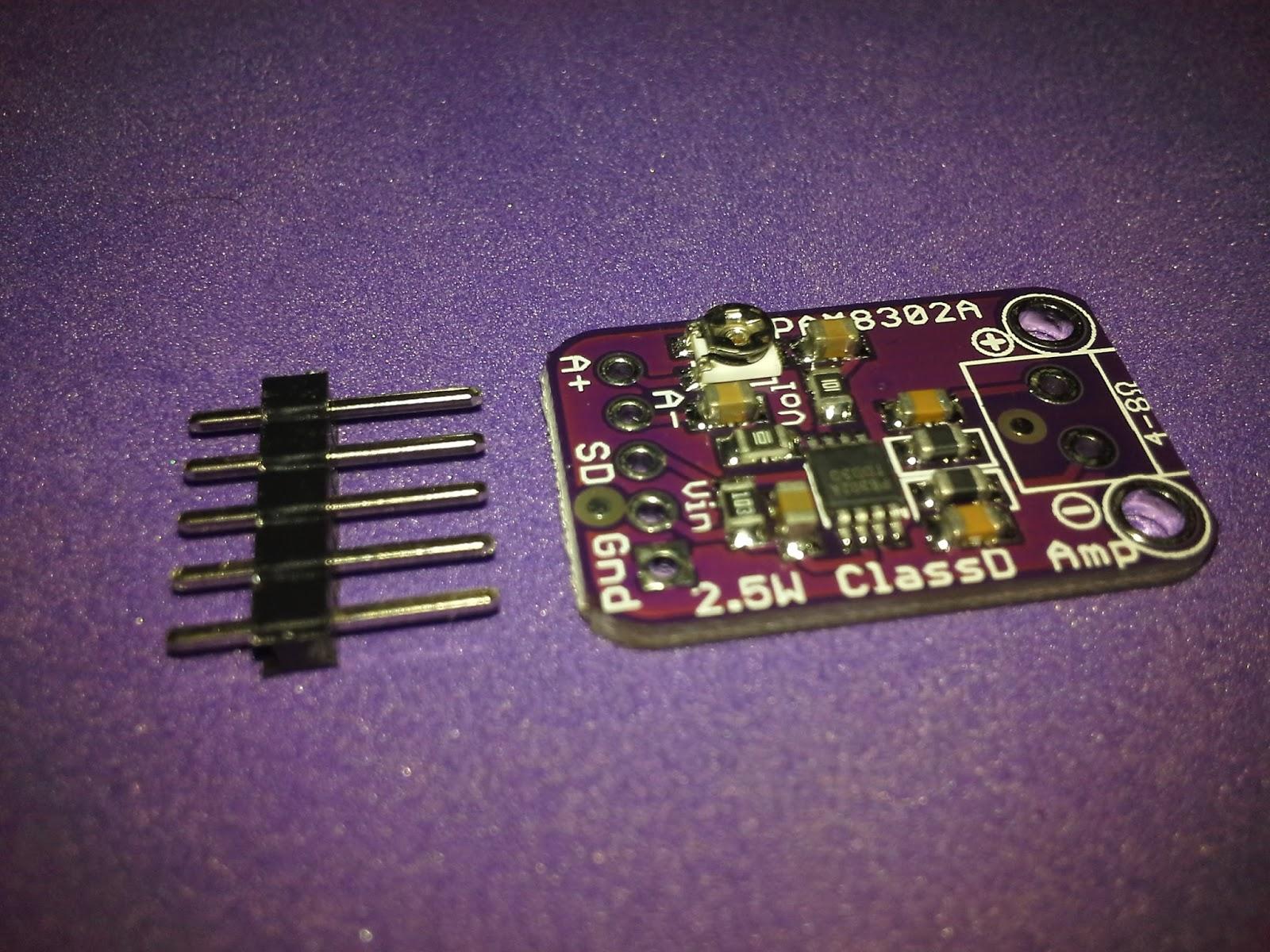 Tutorial Amplifier Audio PAM8302A ESP8266 Node-RED MQTT