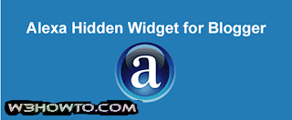 hide alexa rank widget on blogger
