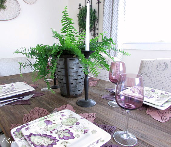 Tablescape with farmhouse style for casual dining.