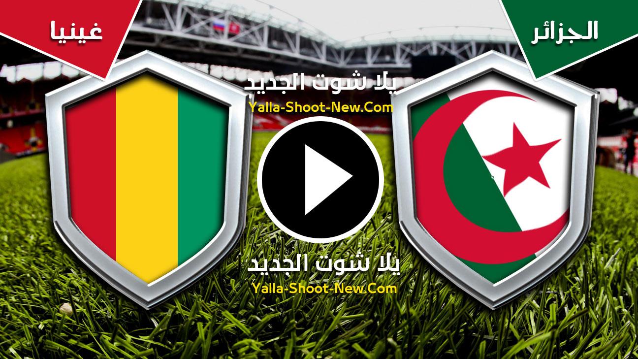 مباراة الجزائر وغينيا