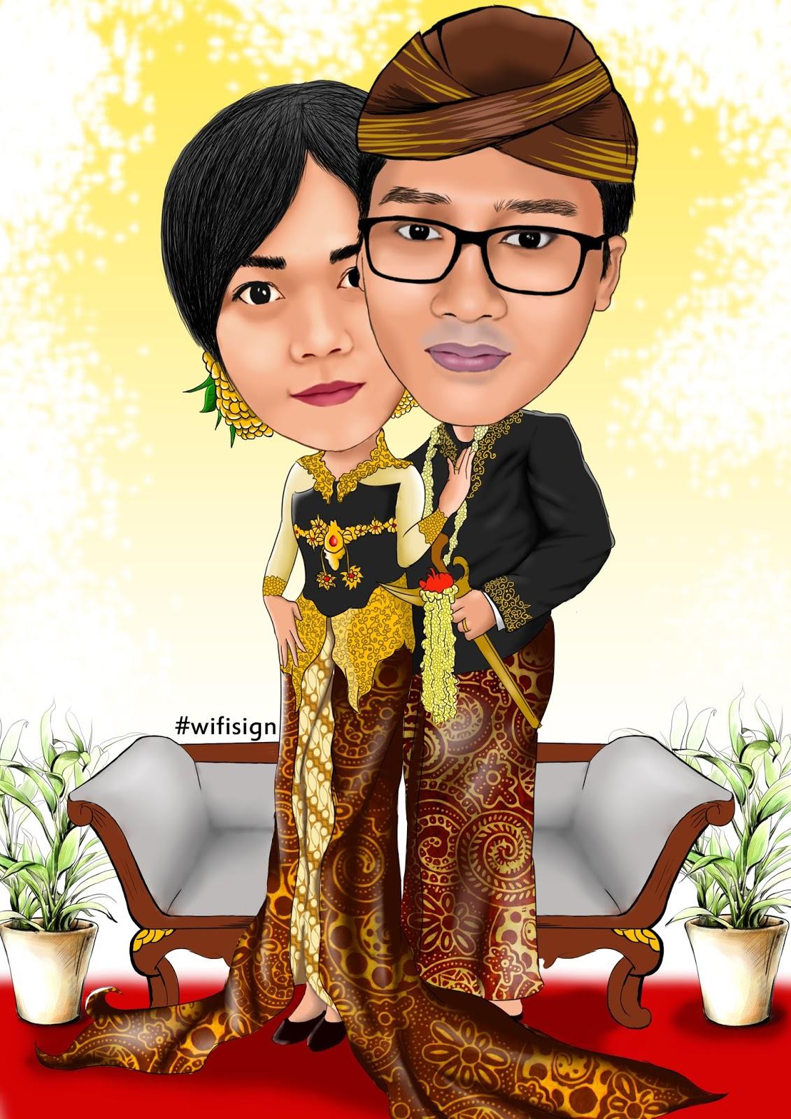 Gambar Kartun Pernikahan Adat Jawa