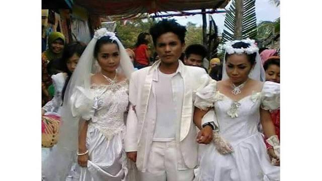 pria nikahi kedua 2 wanita