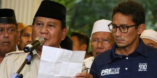 Klaim Kemenangan Prabowo-Sandi, Ternyata Situs Jurdil 2019 'Tak Diakui' Forum Alumni ITB
