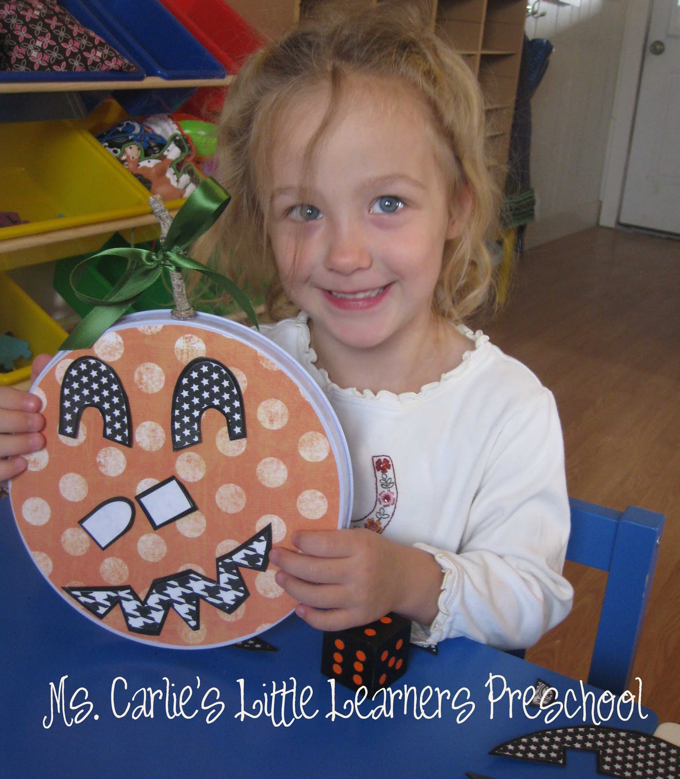 Ms Carlie S Little Learners Preschool Halloween Activity Roll A Jack O Lantern