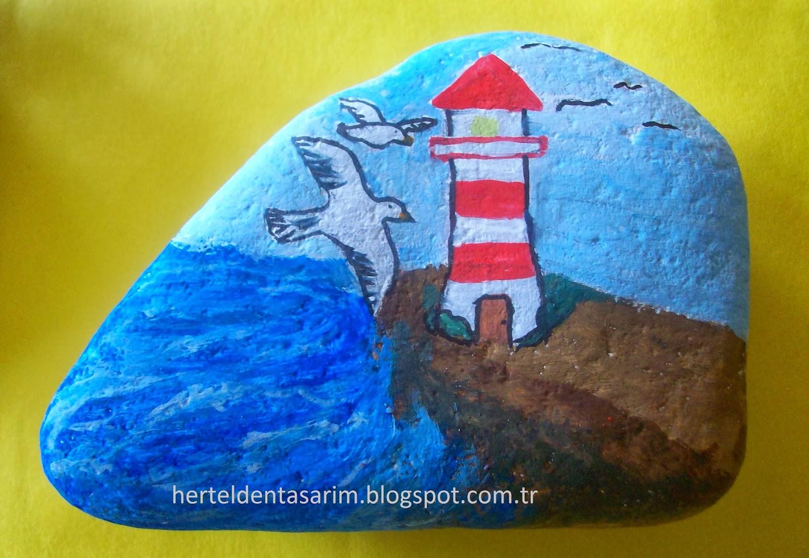 Herteldentasarim Tas Boyama Ornekleri Stone Painting