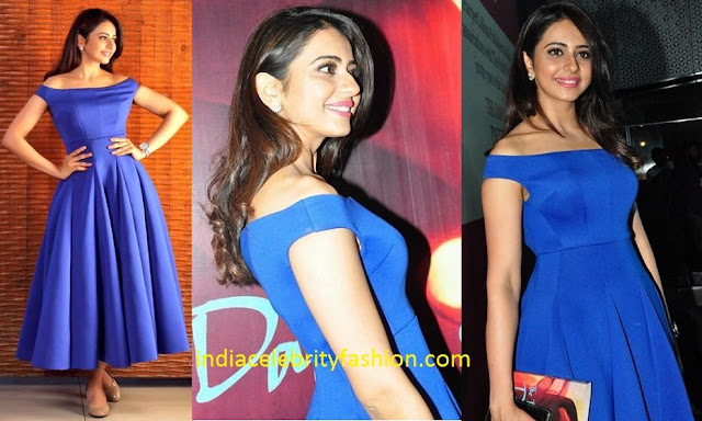 Rakul Preet in Mint Blush at a book launch