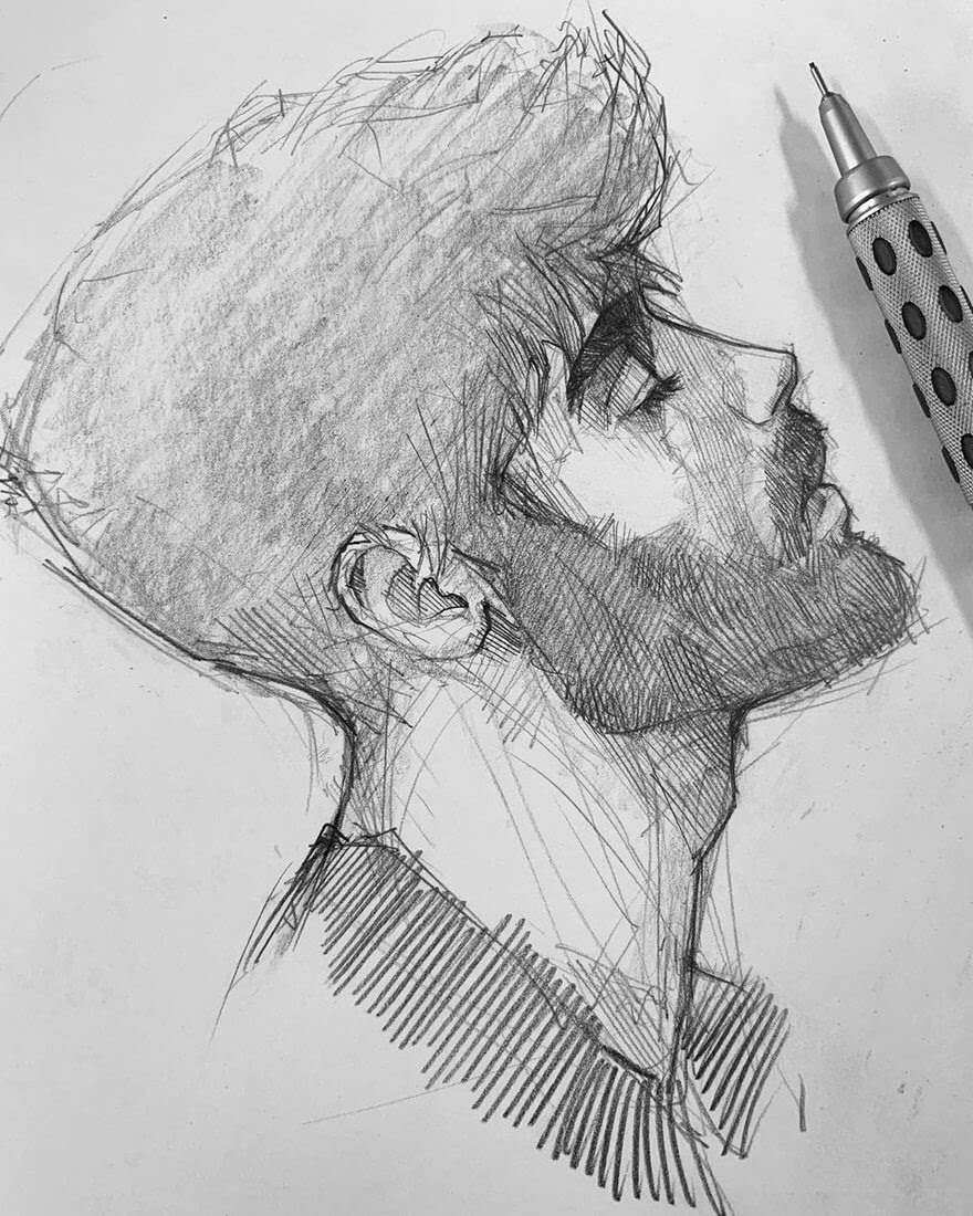 05-Efrain-Malo-12-Sketches-and-1-Realistic-Pencil-Portrait-www-designstack-co