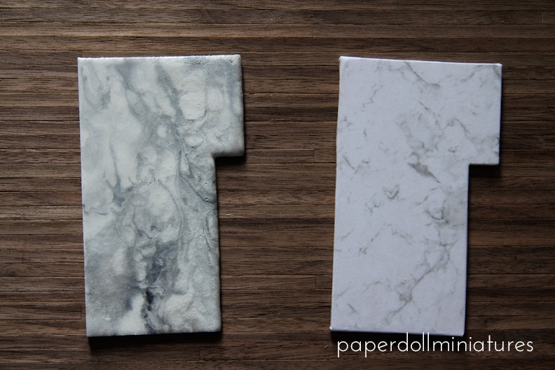 ... Made Faux Marble Tops. My First Attempt On The Left Using Paint From  This Post Back In September Of This Year, And On The Right My Second  Attempt Using ...