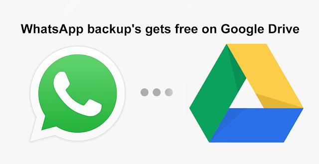WhatsApp backup's get free on Google Drive