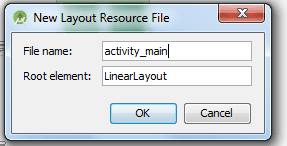 New Layout Resource File