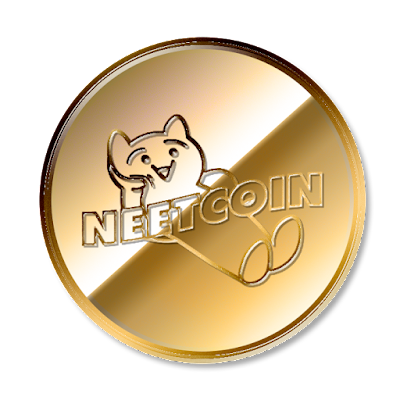 暗号通貨ニートコイン(NEETCOIN)のフリー素材(金貨ver)