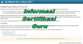 Informasi Sertifikasi Guru 2017