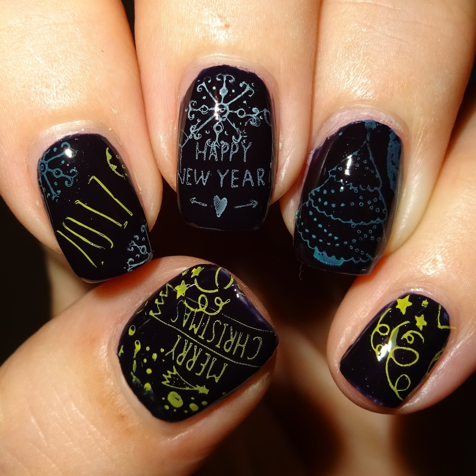 Wendys Delights Moyou Nails Stamping Plate Xmas Style Number 453