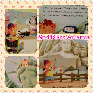 god bless america book collage