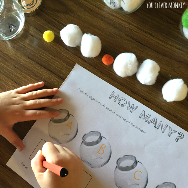 Keeping Counting Fun - using the computer game Fuzz Bugs, create this simple maths activity to allow children practice at estimating, counting and recording | you clever monkey