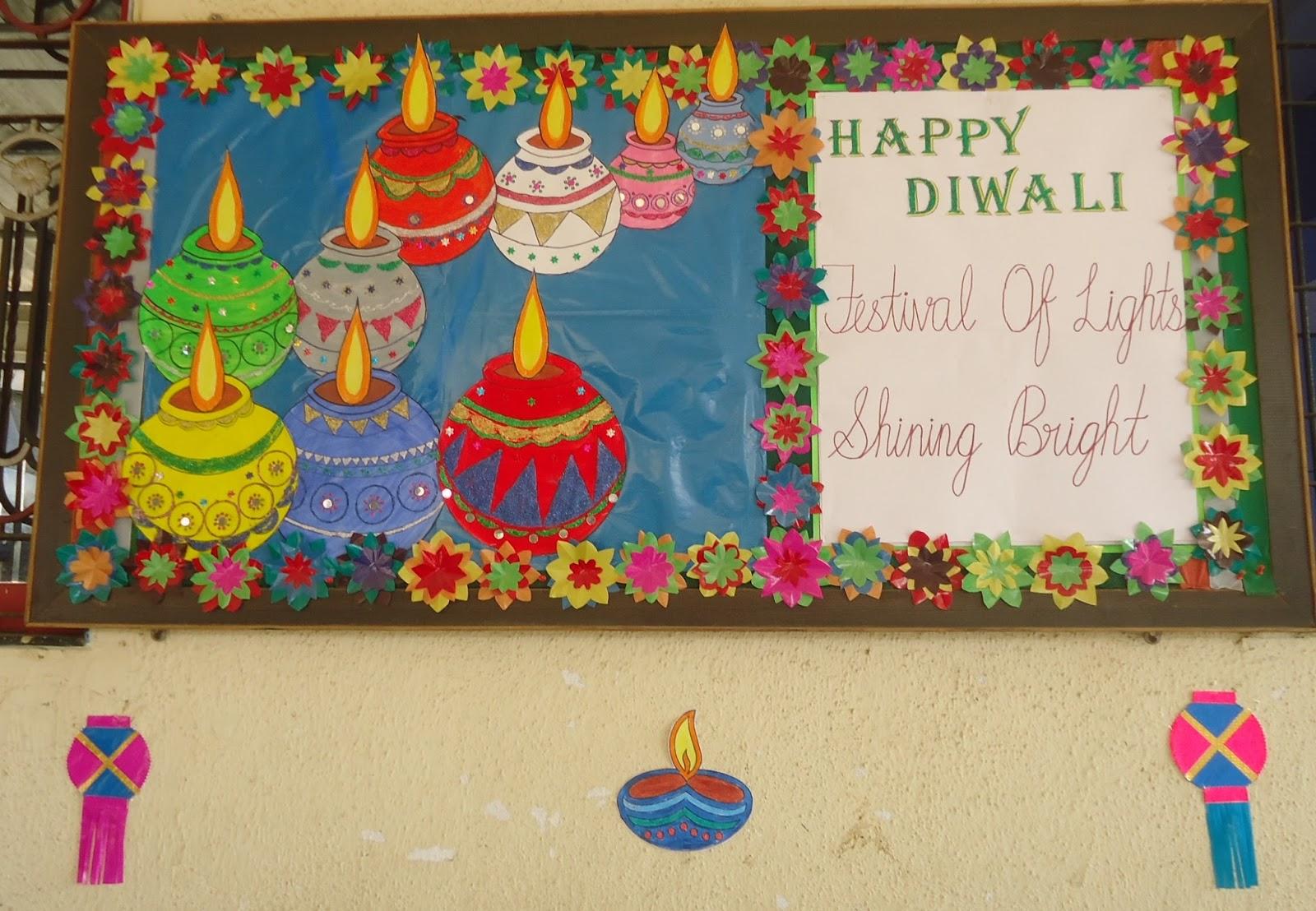 Classroom Decoration Ideas For Diwali ~ Board decorations for diwali decoratingspecial