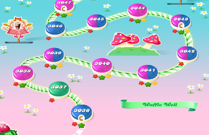 Candy Crush Saga level 3036-3050