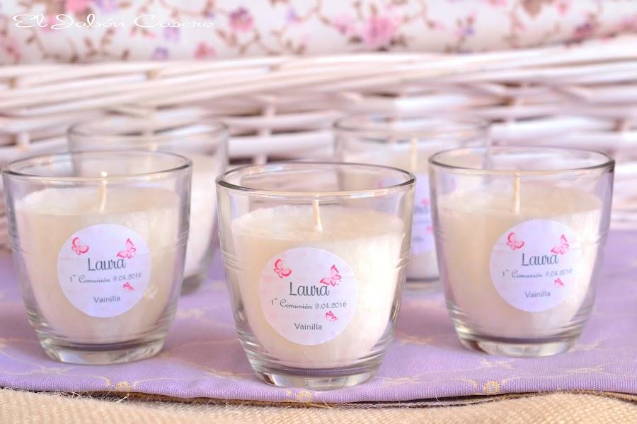 detalles bodas comuniones bautizos velas aromaticas