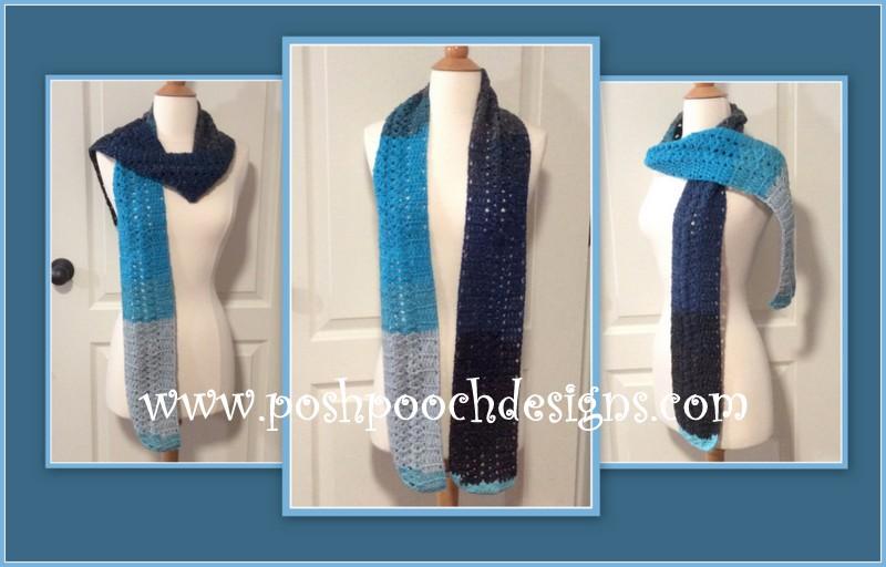 Posh Pooch Designs Dog Clothes Mandala Skinny Scarf Crochet Pattern